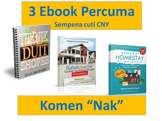 3 Ebook Percuma Sempena Cuti CNY