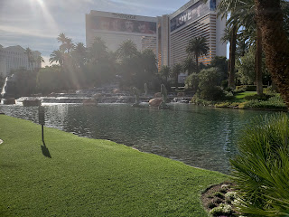 Outside The Mirage in Las Vegas Nevada