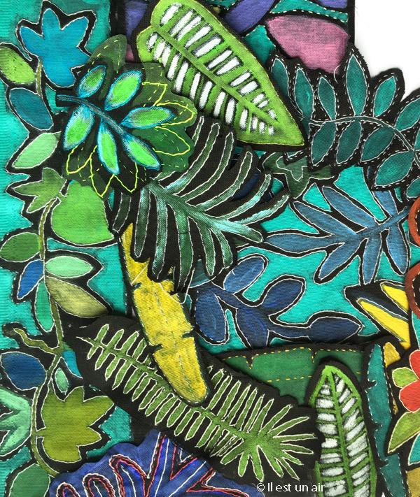 Peinture textile tropical
