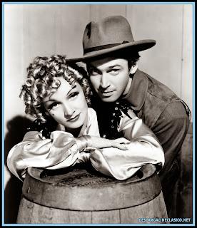 Marlene Dietrich y James Stewart