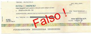 assegno circolare falso