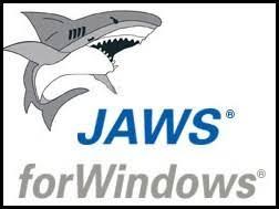 Icono del lector de pantalla JAWS