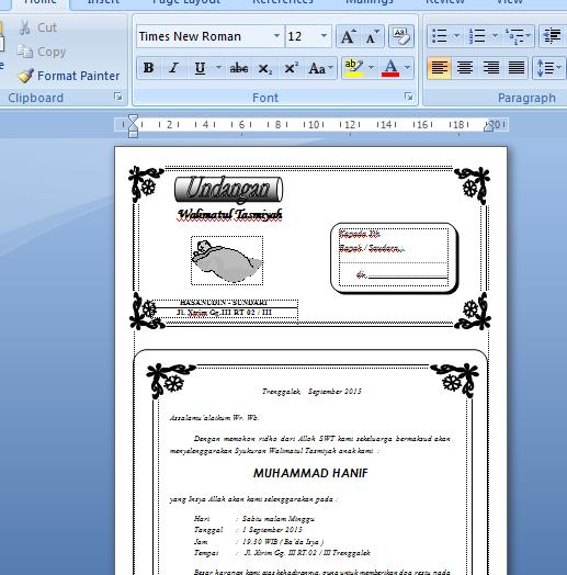 Koleksi Undangan Format Word ~ MARKAS DUNIA MAYA