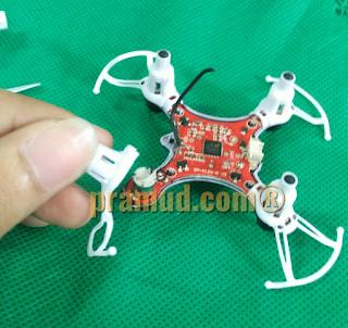 cara melepaskan kaki dan protektor drone syma X12S