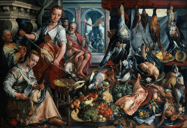 J. Beuckelaer, The Well-Stocked Kitchen (1566)