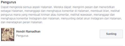 Menambah Pemilik/Admin di Halaman Facebook Page