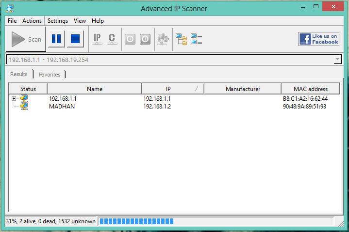 How to scan network using Advanced IP scanner - Madhnw0rm com