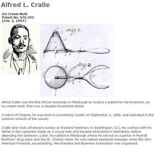 Alfred Cralle Ice Cream Patent