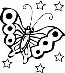 Adorable Butterfly Coloring Sheet For Kids