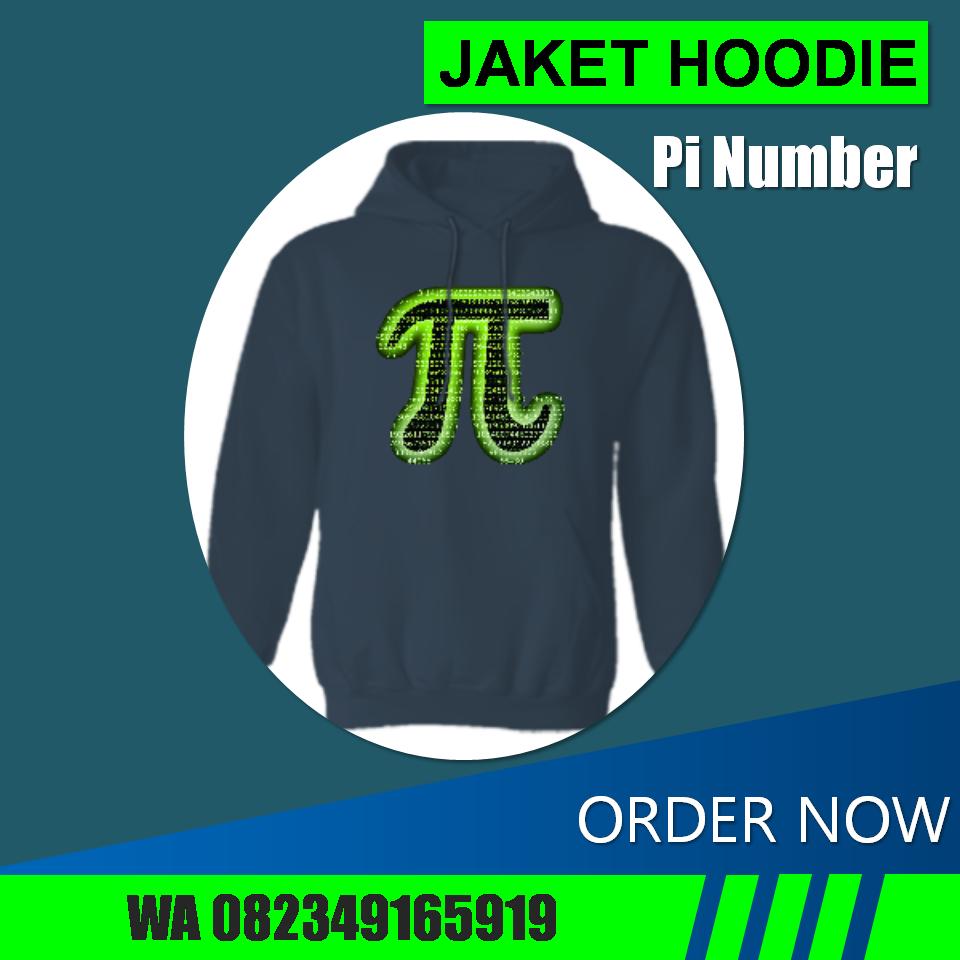 Jaket Hoodie Pi Number