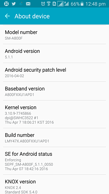 Samsung Galaxy A3 mendapat security update