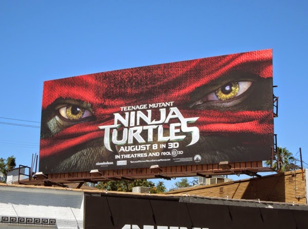 Teenage Mutant Ninja Turtles Raphael mask billboard