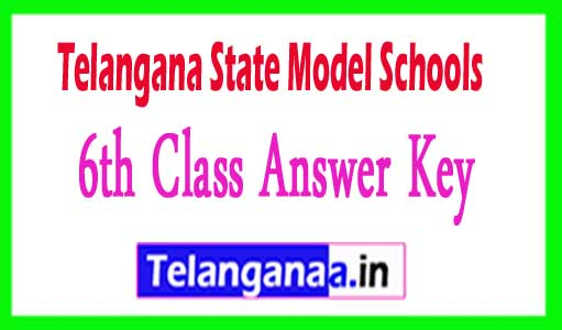 TS Model school 6th class Answer key Download 2018