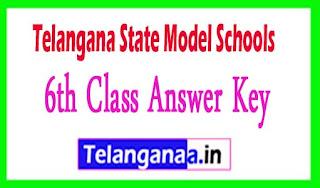 TS Model school 6th class Answer key Download 2017