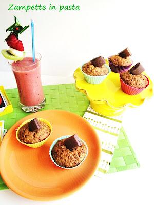 Muffin alla carota e cioccolato al latte