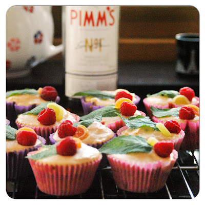 Pimm's and lemonade cupcakes