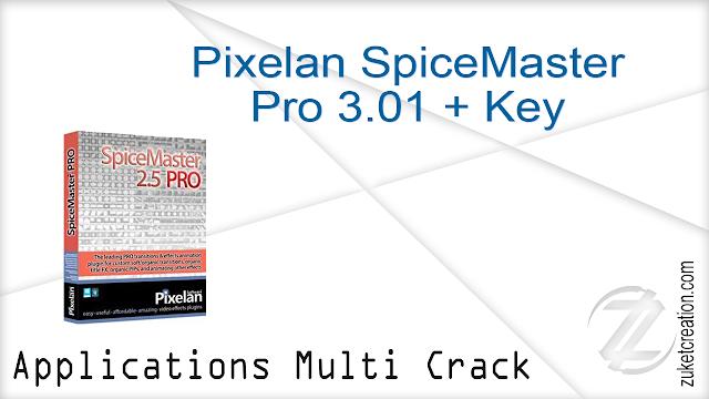 Pixelan SpiceMaster Pro 3.01 + Key   |  136 MB
