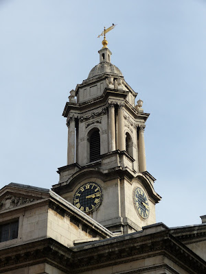 The tower of St George's Hanover Square