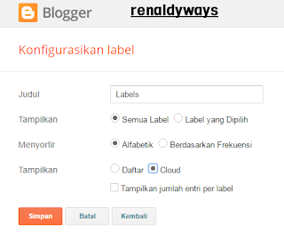 Cara Membuat Widget Label Cloud Flat Design Di Blog