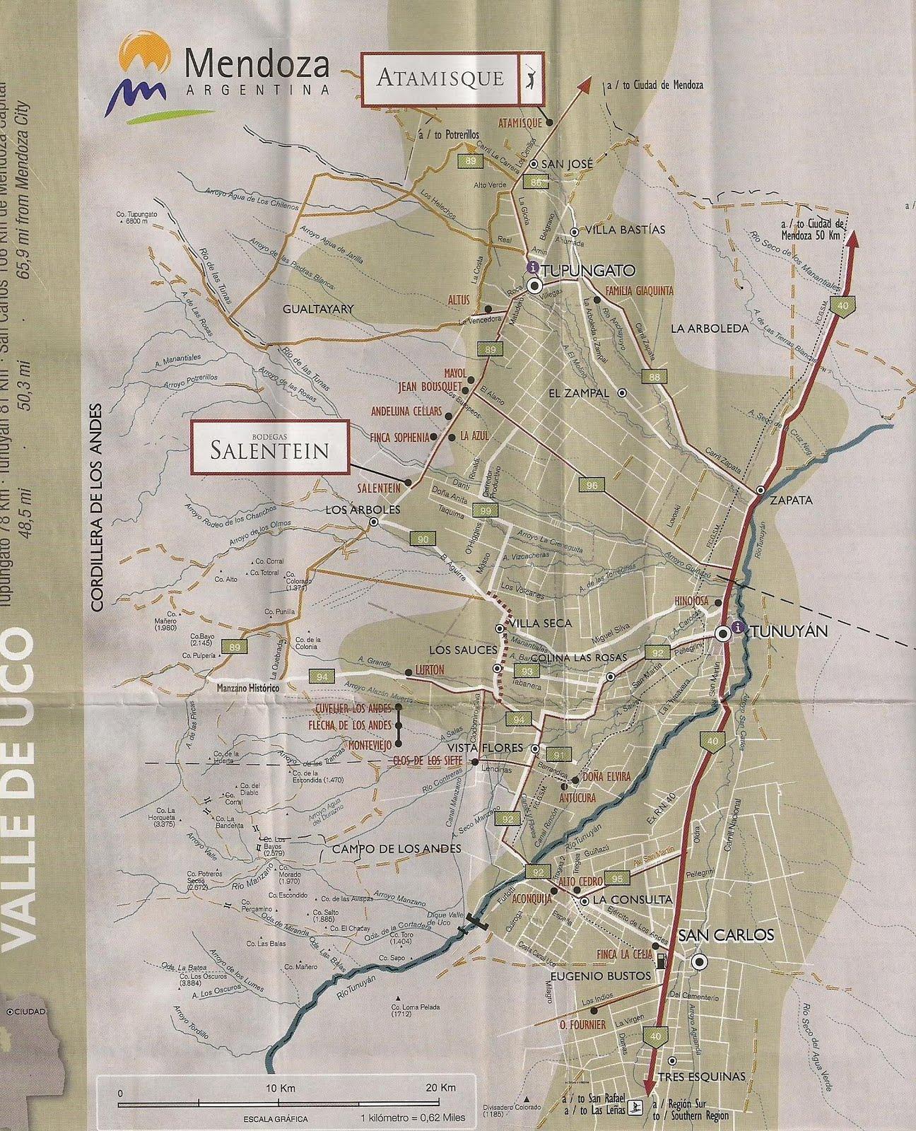 Vinho Por 2 Mapa Valle De Uco