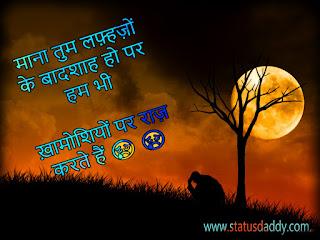 status,hindi,sad,love