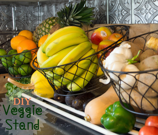 diy counter vegetable stand, DIY project, building plans