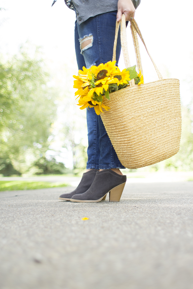 Sunflowers and shoes