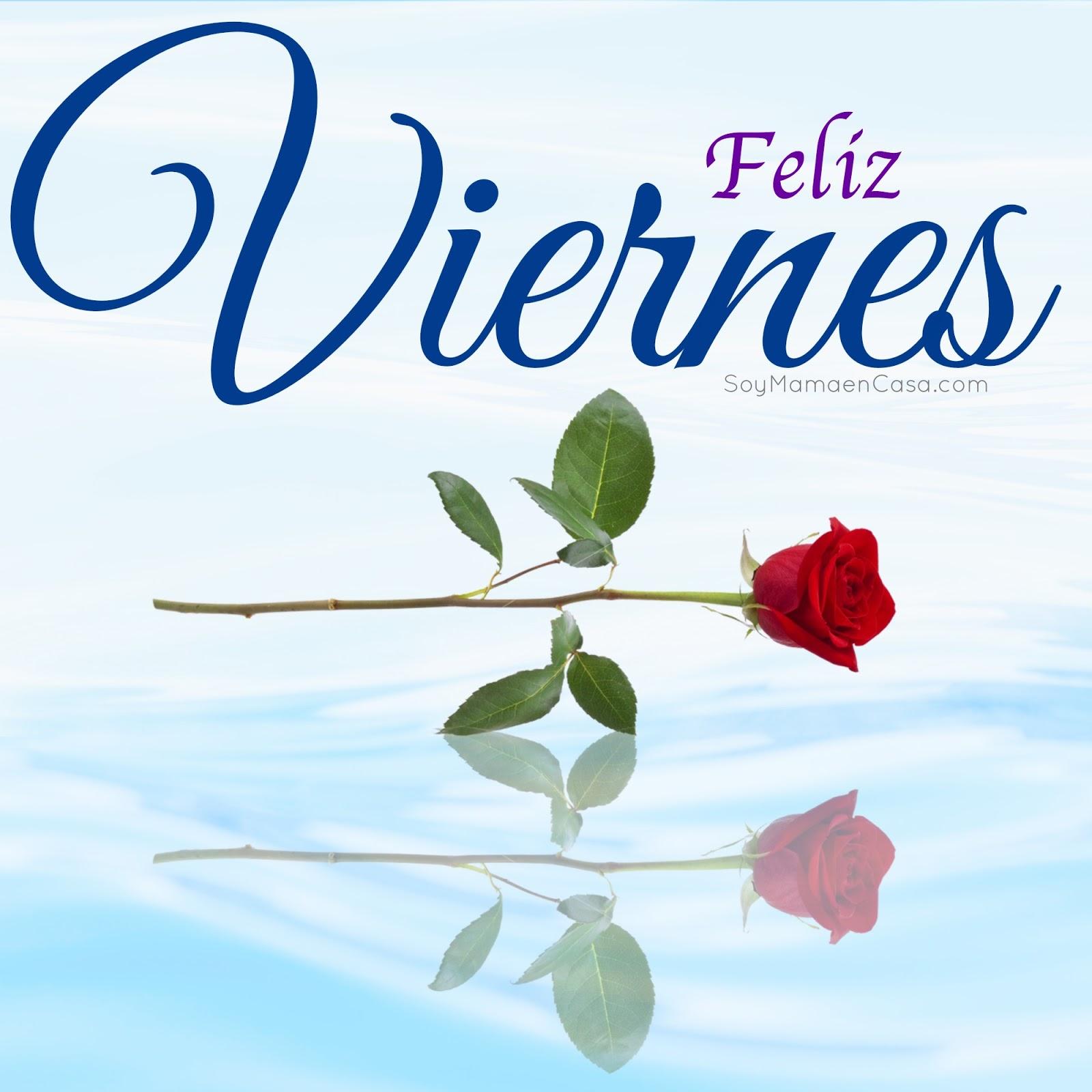 Bellas Tarjetas Feliz Viernes Rosas Rojas
