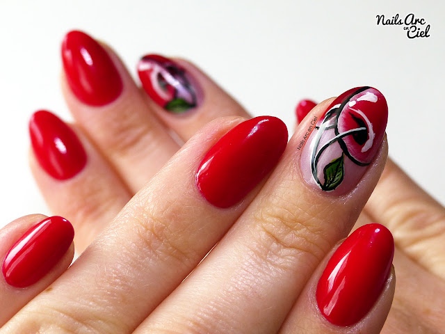 Nail Art - Le temps des cerises - one stroke par Nails Arc en Ciel