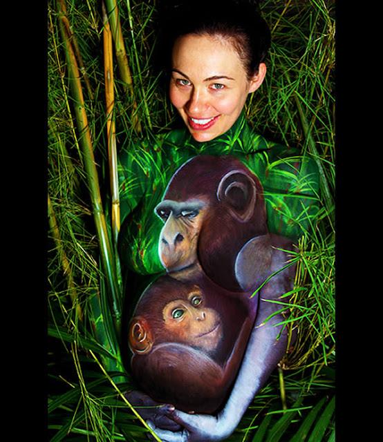 Pregnant Belly Artworks seni melukis perut wanita hamil yang keren-6