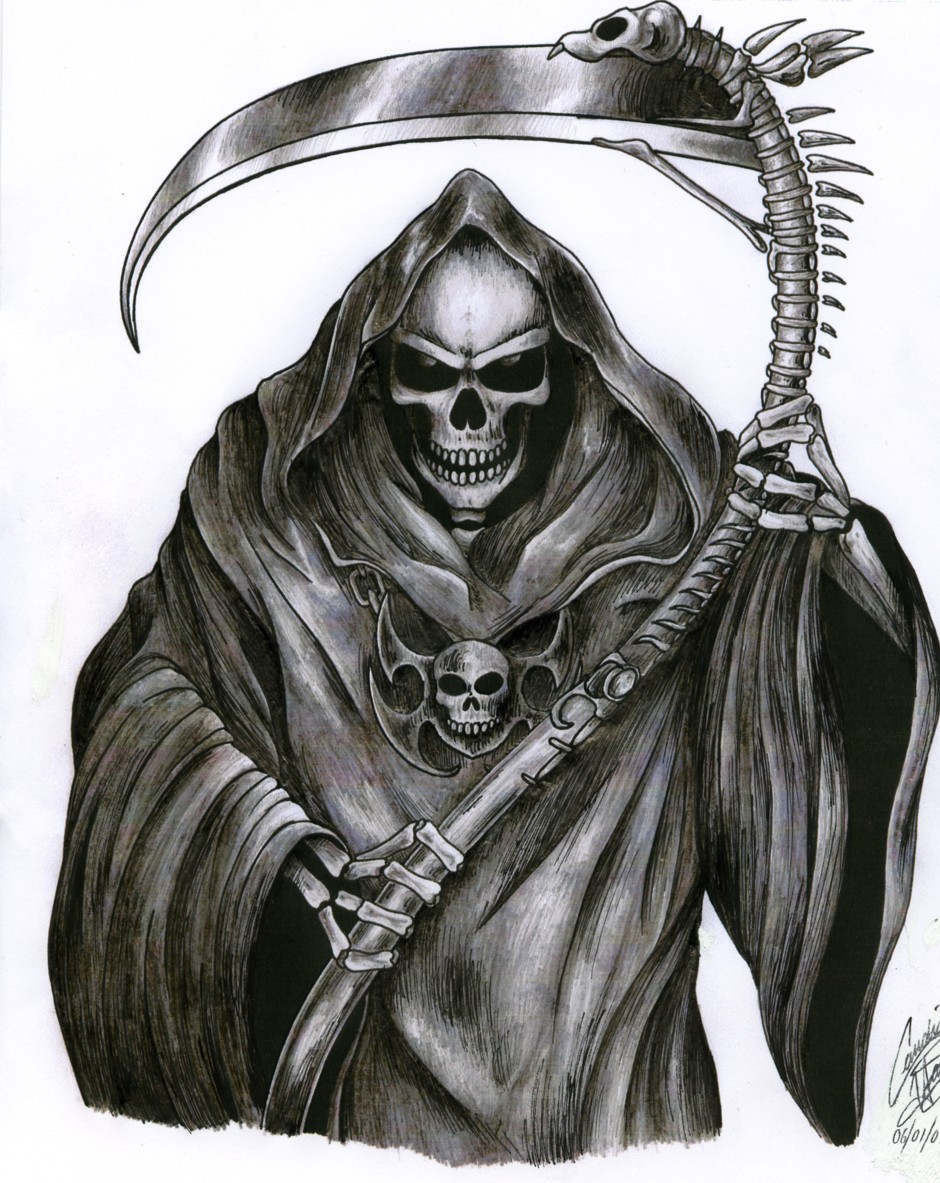 Tattoo Designs Yoga: Grim Reaper Tattoo Drawings