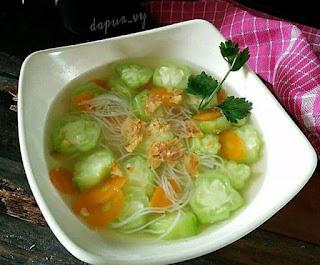resep membuat sayur sop ceme / oyong
