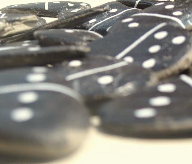 domino, juegos, campo, reciclar, naturaleza, piedras