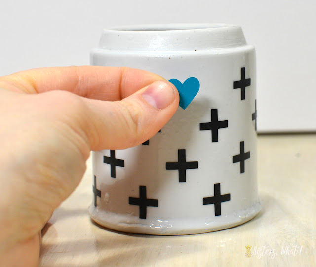 how to add vinyl stickers to ceramic