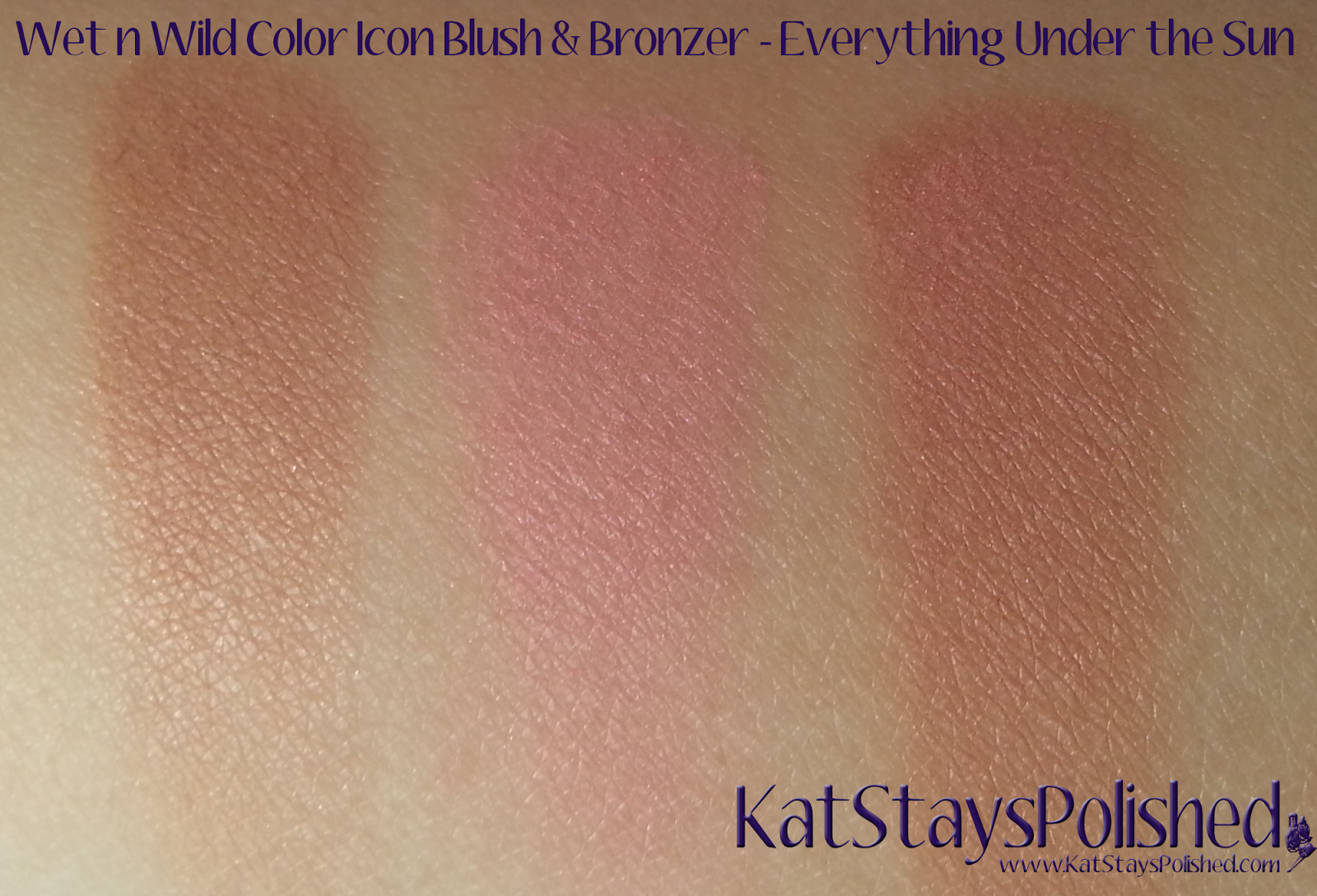 Wet n Wild ColorIcon Bronzer & Blush - Summer 2014 - Everything Under the Sun | Kat Stays Polished