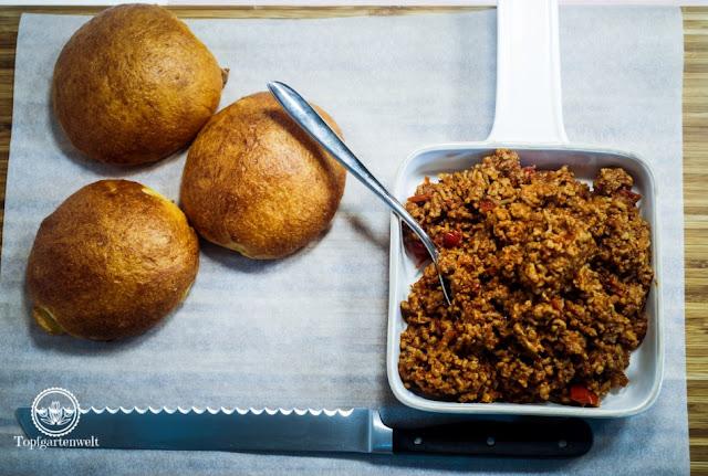 Rezept Sloppy Joes Burger selber machen - Foodblog Topfgartenwelt