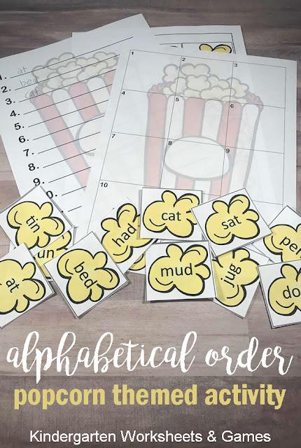 Alphabetical Order Activity Pinnable 2