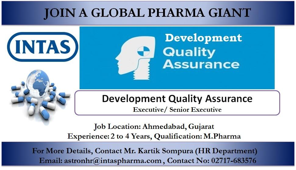 Pharmajobs: Intas Pharma Openings- QA/ Analytical