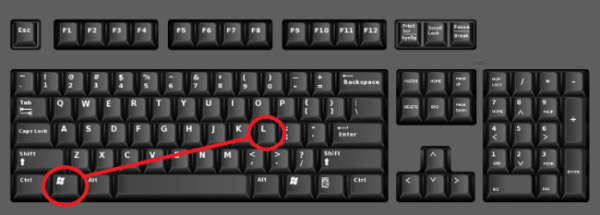 how to lock computer keyboard shortcut