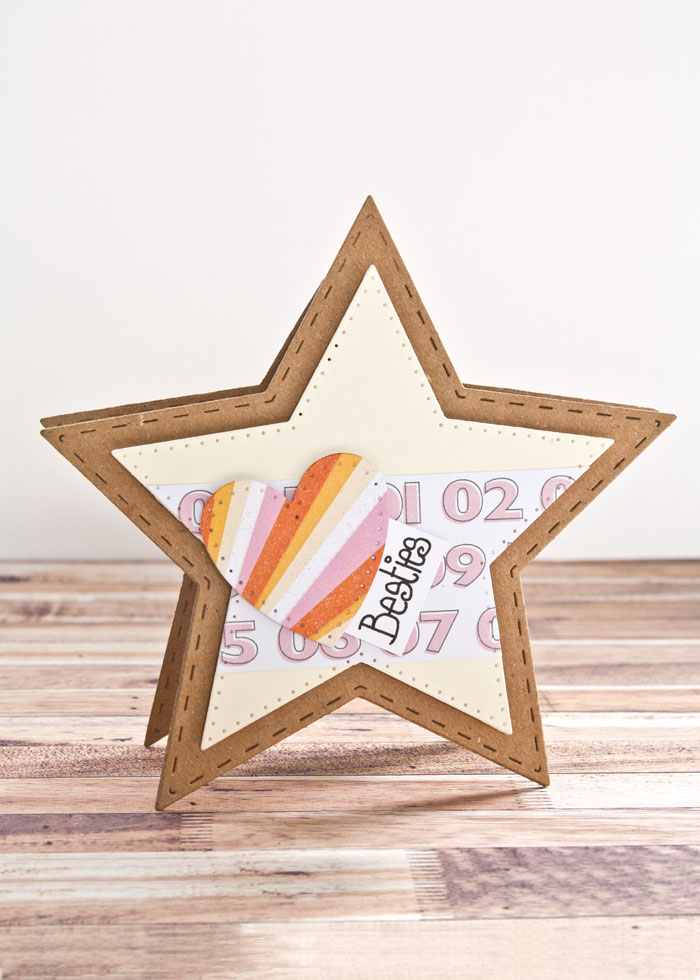 star shaped card by Kim Dellow