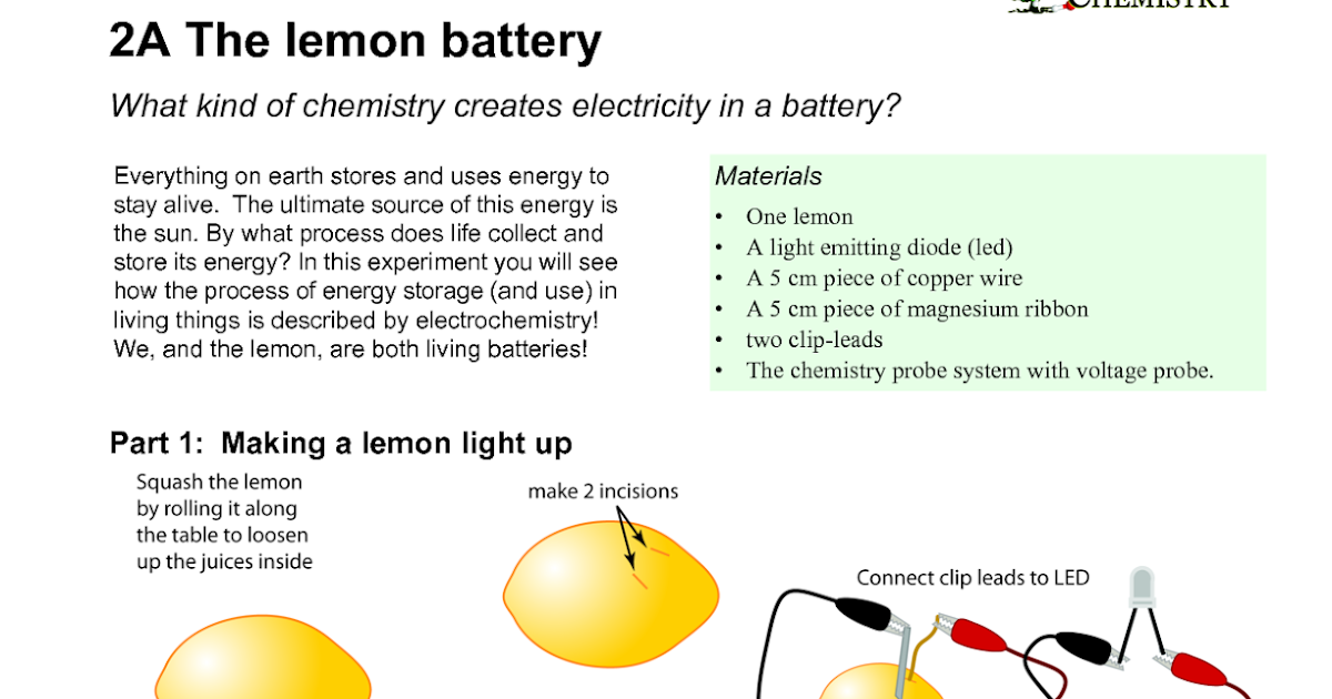 Electrical Engineering World How To Make Lemon Battery