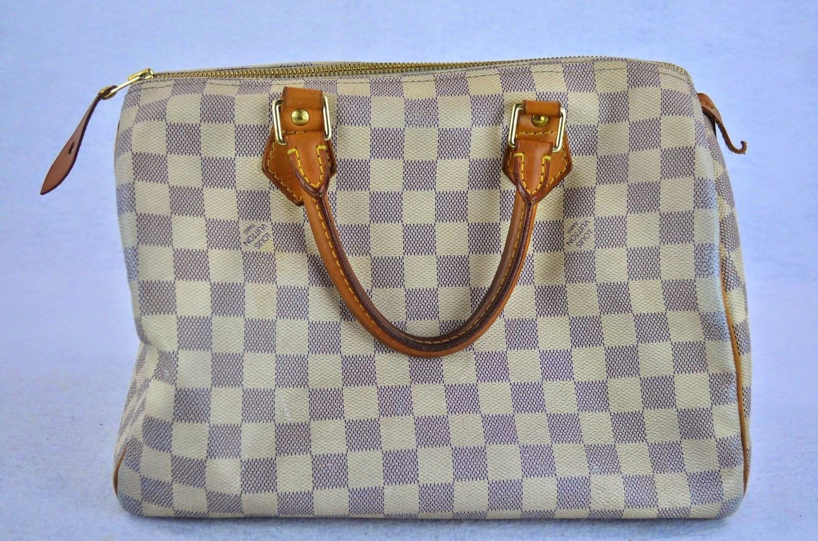Item of the Week  Louis Vuitton Speedy 30 Damier Azur Canvas Handbag ~ Le  Thrift Consignment 8c228c63518d4