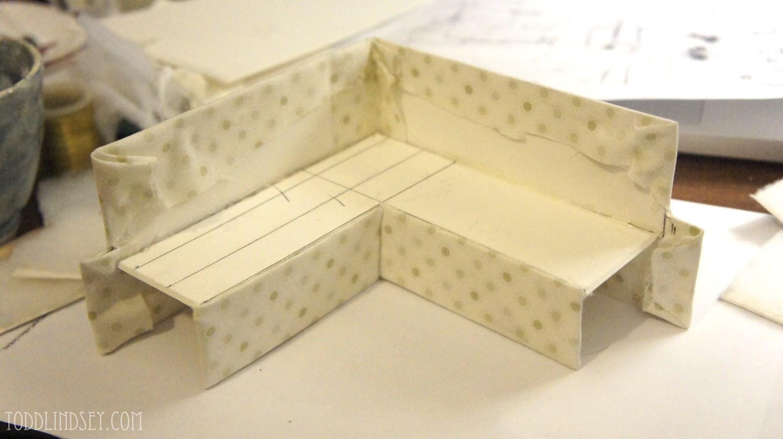 dollhouse miniature sectional sofa camping world jackknife domer home diy