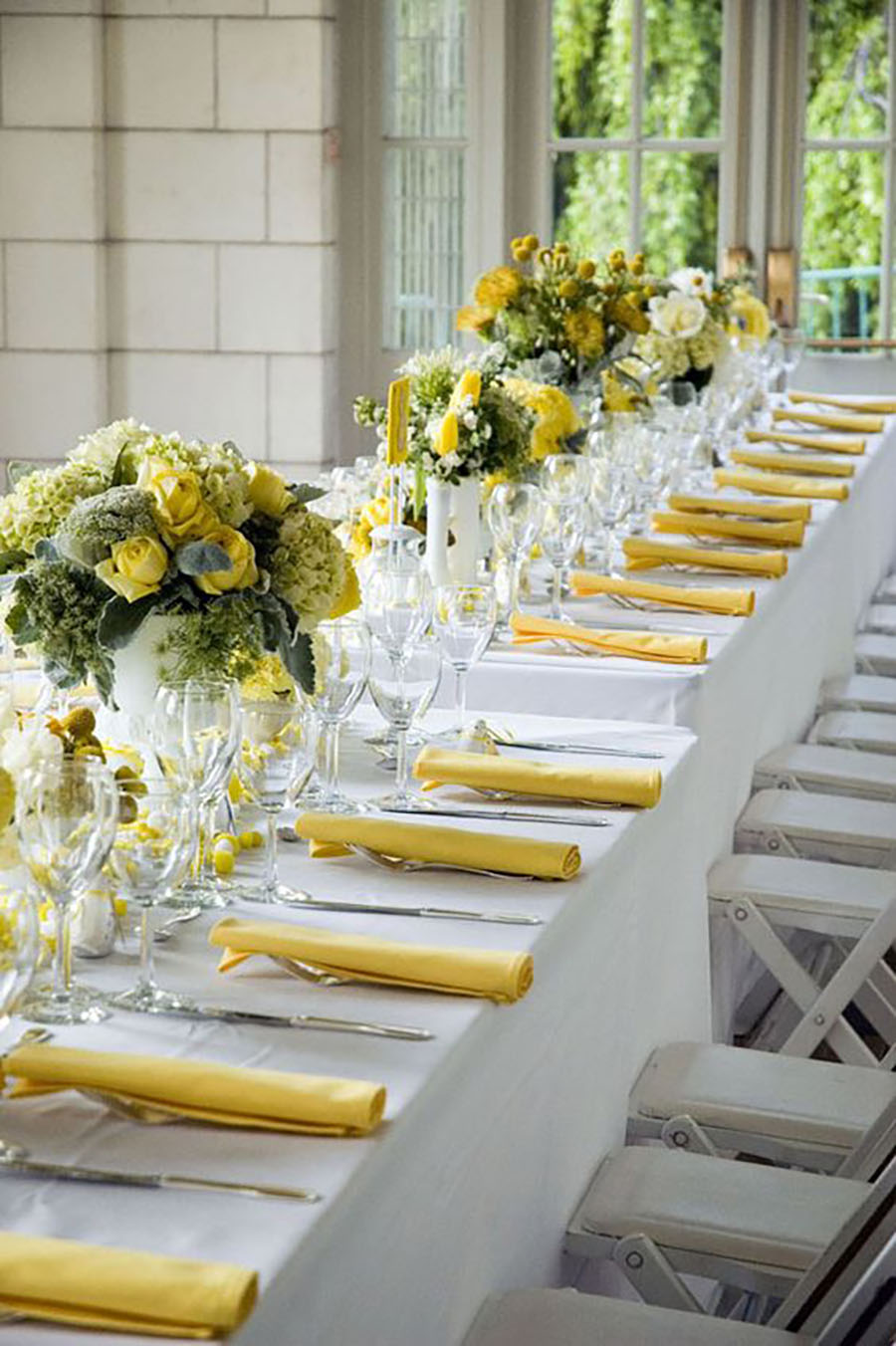 spring and easter tablescapes - yellow