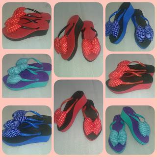 Sandal Wedges Wanita (Produksi Sandal Tasikmalaya)