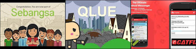 Aplikasi buatan anak bangsa Qlue, Catfiz dan Sebangsa