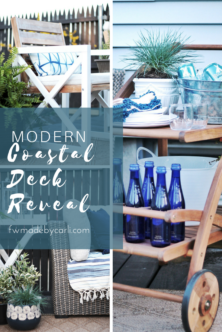 Modern Coastal Deck Refresh with Raymour and Flanigan #Sponsored