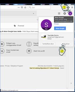 Cara keluar Akun Gmail PC/ Laptop