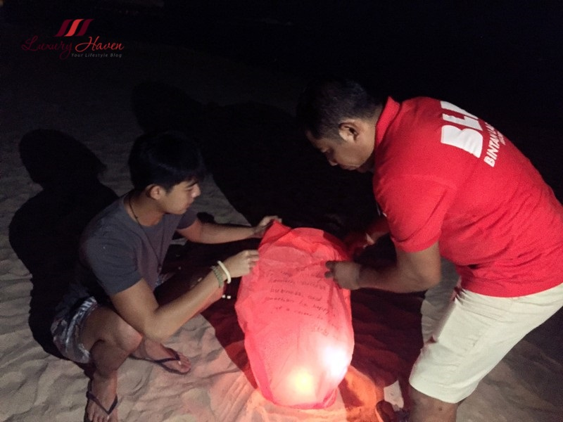 what to do in bintan resorts sky lanterns