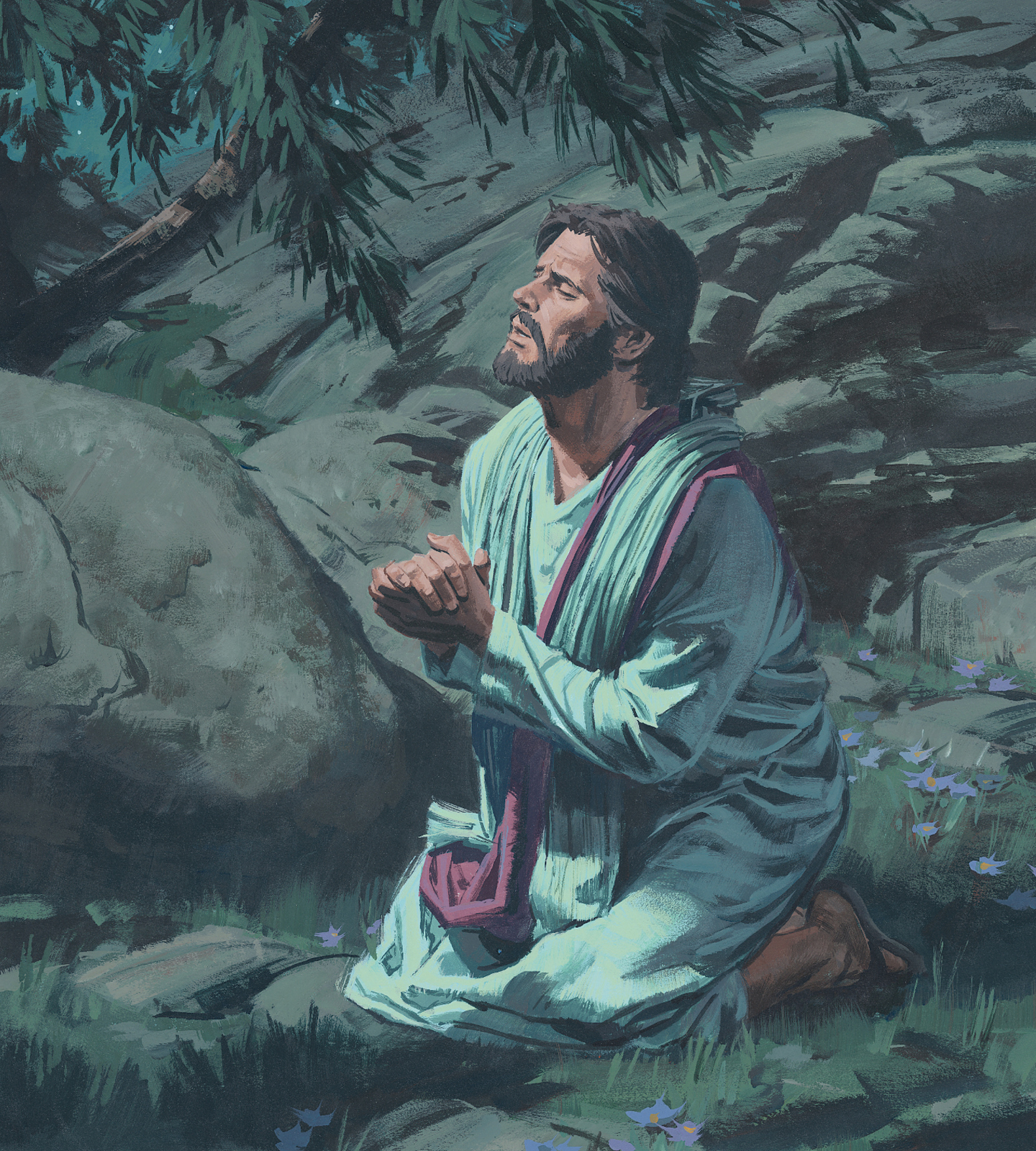 The revelation of jesus christ the garden of gethsemane - Jesus praying in the garden of gethsemane ...